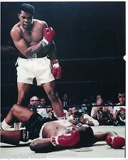 Cassius Clay Sonny Liston First Fight Famous Pose Over Liston Mohammad Ali 1965