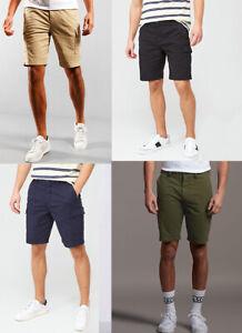 Lyle & Scott Men Knee length Cotton Casual Combat Cargo Shorts Khakis 28 to 38