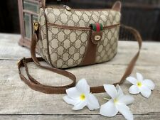 Authentic Gucci Vintage Sherry Line PVC Leather  Crossbody Bag🌺exquisite !