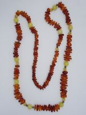 """VINTAGE GENUINE GRADUATED BALTIC AMBER NUGGET NECKLACE ~ 36"""" / 54.5 g"""