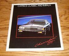 Original 1984 Chevrolet Caprice Classic & Impala Sales Brochure 84 Chevy