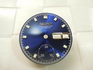 SEIKO REPLACEMENT GLOSSY BLUE DIAL FOR SEIKO PEPSI POGUE 6139-6002 MEN'S WATCH