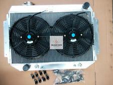 3 ROW 56MM ALUNINIUM RADIATOR + FANS for HOLDEN HQ HJ HX HZ 253 & 308 V8 AT/MT
