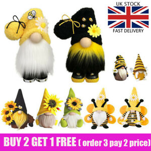 World Bee Day Gnome Nordic Gonk Tomte Sunflower Swedish Plush Doll Ornaments*