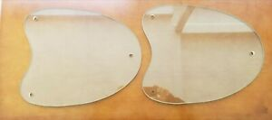 """Lot of 2 Oval Shape Glass Table Top 17 1/8"""" Length x 1/4"""" Thick"""
