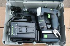 Festool Duradrive DWC 18-4500li 4,2 set batteria-bauschrauber-come nuovo -