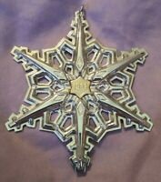 """1983 Gorham Sterling Silver Annual Christmas Snowflake Ornament 3 1/4"""""""