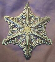1983 Gorham Sterling Silver Annual Christmas Snowflake Ornament 3 1/4""