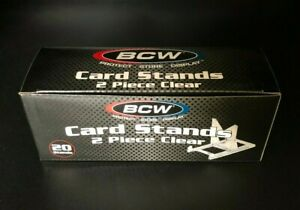 20 Count Box - BCW 2 Piece Adjustable Display Stands Cards, Coin, and Currency