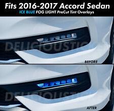 For 2016 2017 ACCORD ICE BLUE FOG Lights JDM Front overlays vinyl tint precut