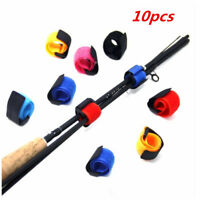 10X Reusable Fishing Rod Tie Holder Strap Fastener Ties Fishing Accessories Hot