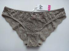 Pretty Polly Grey Lace Briefs size 16