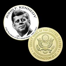 John F. Kennedy 35th President of the United States Coloried  Coin 629#