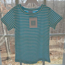 Brand New W/Tags Bella Bliss Boatneck Aqua/White Stripe Top Size 4 yr.