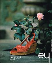 PUBLICITE  1976   HEYRAUD  chaussures 1