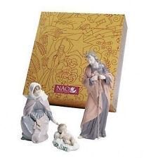 NAO Porcelain by Lladro : NATIVITY SET:  BABY JESUS, MARY, JOSEPH 020.07026