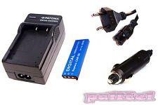 Ladegerät / Akku-Ladegerät und AKKU / Batterie für Casio Exilim Hi-Zoom EX-V8