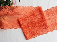 16 cm width Orange Red Stretch Lace Trim