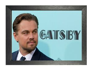Leonardo DiCaprio #7 American Actor Poster Handsome Film Star Gatsby on Wall