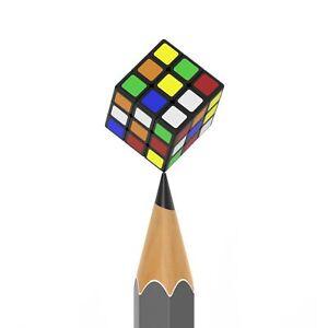 Moyu Mini 1.0cm 3x3x3 Magic Cube Twist Puzzle Toy Kids Gift Black