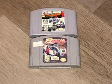 F-1 Grand Prix & F-1 Pole Position 64 Nintendo 64 N64 2 Game Lot Authentic
