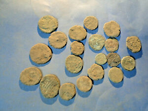 20 Unsorted low grade Roman Bronze Coins for Cleaning and Identification.