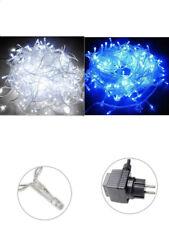 Luci natalizie led esterno filo trasparente catena 180 480 led impermeabili IP44