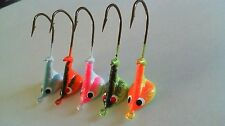 25 - 3/8 oz. STAND UP JIG HEADS WALLEYE BASS *2 Color* 3/0 Hook