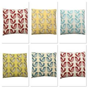 SMD iliv Geometric Scandi Birds Handmade UK CUSHION COVERS