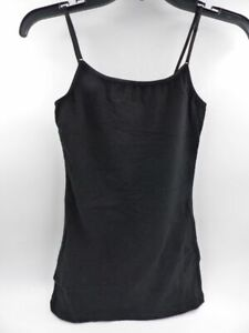 AMBIANCE BLACK CAMI TANK TOP WITH ADJ STRAPS WOMEN'S SIZE L