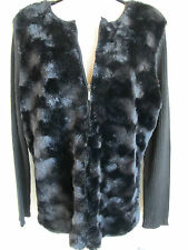 Alfred Dunner, Womens Faux Fur Cardigan Sweater Jacket w Belt Size Small New NWT