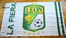 Club Leon Flag Banner 3x5 ft La Fiera Blanca Mexico Futbol Soccer Bandera