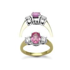 Yellow Gold Sapphire Fine Diamond Rings