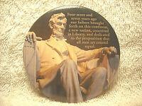 "THE LINCOLN MEMORIAL 3"" ROUND SOUVENIR REFRIGERATOR MAGNET ABRAHAM LINCOLN NICE"