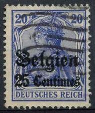 German Occupation 1914,  25c On 20pf Ultramarine Used #A80593