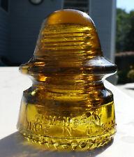 Glowing Yellow Amber CD 162 Hemingray No 19 Glass Insulator