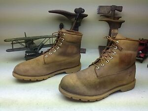 TIMBERLAND DISTRESSED LEATHER AMBER BLONDE LACE UP ENGINEER WORK BOOTS SIZE 14 W
