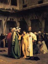 JEAN-LEON GEROME Canvas - The slave market, Quality giclee fine art canvas print