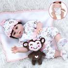 18'' Reborn Baby Dolls Lifelike Vinyl Silicone Newborn Girl Doll Gifts Kids Toy