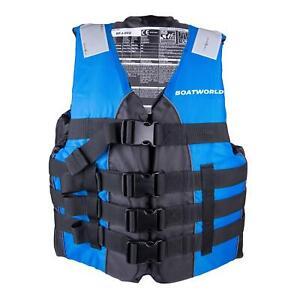 Boatworld Adult Life Jacket Kayak Ski Buoyancy Aid Watersports Vest Dual Size