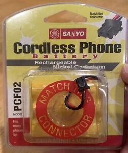 NOS Sanyo Cordless Phone Batteries  Model PCF02