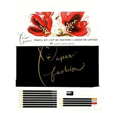 American Crafts Paper Fashion Drawing Sketch Pencil Kit 15 Pieces 349315
