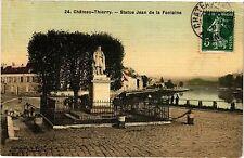 CPA  Cháteau-Thierry -  Status Jean de la Fontaine (202481)