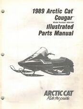 ARCTIC CAT COUGAR  SNOWMOBILE  PARTS  MANUAL 1989