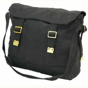 Biker Motorcycle Messenger Web Shoulder Black Bag Haversack Small (28x23x9.5cm)
