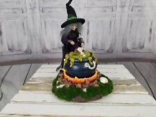 "Dept 56 Halloween Witch As Is 34594 2002 music musical animated 13"" cauldron"
