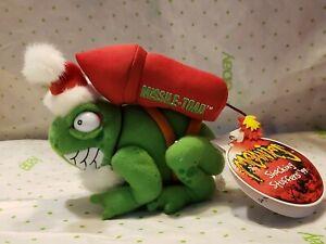 MEANIES SHOCKING STUFFERS BEANIE PLUSH VINTAGE 1999 Missle Toad Merry Xmas