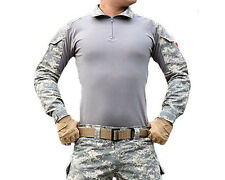 Mens Tactical Long Sleeve Army Shirts Moisture Wicking Combat Military T-Shirts