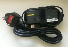 Genuine Lenovo Laptop AC Adapter/Charger + UK 3-pin Lead Cord [REF: X1C002]