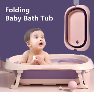 Baby Bath Tub Collapsible Foldable Portable Non-slip Safety Washing Babies